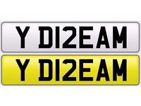 Personalised Number Plate ( YD12 EAM ) - Y DREAM