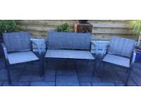 All Weather Garden Bench & Chairs, New / Unused