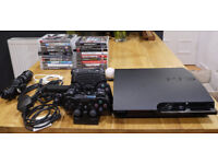 Sony PlayStation 3 Slim 320GB (CECH-2503b) + Games and Accessories