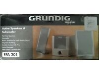 New Grundig Finearts Active Speakers & Subwoofer