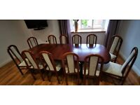 Dining table with 12 chairs