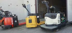 transpalette electrique usage et neuf raymond caterpillar crown hyster Jigger (4500 et 6000) Lbs pump truck electric
