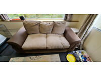 6ft Brown sofa free to good or bad home