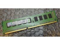 2GB Samsung HP 637458-571 PC3-10600E 1Rx8 DDR3 Unbuffered ECC Server Memory RAM