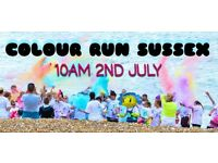 COLOUR RUN SUSSEX - 5k Eastbourne seafront cancer charity event
