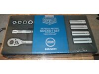 "halfords advanced Professional Socket Set Kit 3/8"" 18 Piece Standard Deep Tool set"