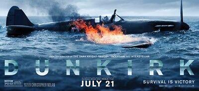 Dunkirk War Movie 2017 Art Fabric Poster 17X13  32X24  Decor 01