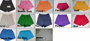 NEW-SOFFE-Juniors-Youth-Girls-Athletic-Gym-Dance-Cheer-Knit-Short-Shorts-S-XL