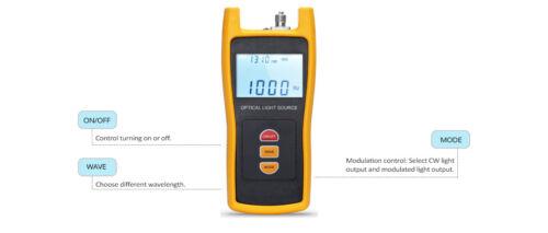 Handheld Fiber Optical Light Source (1310/1550nm) with 2.5mm+FC+SC+ST -173819