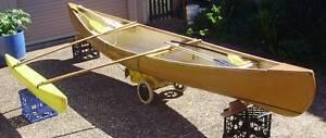 Fibreglass Canoe with Outrigger Batemans Bay Eurobodalla Area Preview