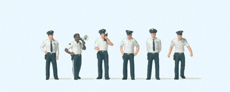 Preiser 1/87 HO US City Police Figures (6) 10797