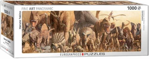Eurographics 1000 Piece Panorama Jigsaw Puzzle - Takino: Dinosaurs