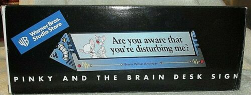 Pinky & The Brain Desk Sign Paper Weight Unique Warner Bros Studio Store NIB NLA