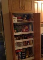 Pantry Cabinet With FOUR  Interior  Drawers