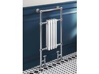 Brand new in box traditional style towel radiator and valves