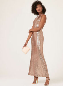 Laura's Cleopatra Illusion Neck Sequin Dress Pink Prom Dress