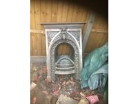 Reclaimed fireplace and chimney pots