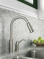 Moen stainless one handle pull down kitchen faucet... New