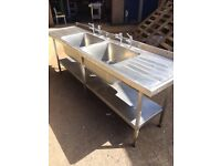 sinks and storage stainless steel