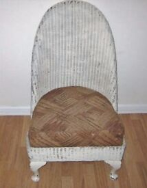Vintage Lloyd Loom Nursery/ Slipper Chair For Restoration OFFERS WELCOME