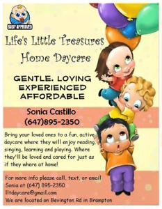 Home Daycare - offering full-time and before-after school