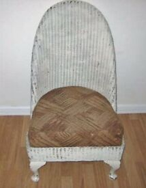 Vintage Lloyd Loom Nursery/ Slipper Chair For Restoration OFFERS WELCOME