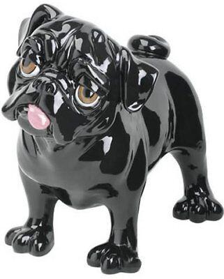 Crazy Critters VICTOR THE BLACK PUG Glazed Ceramistone Figurine LAST ONE Retired Crazy Critters Dog