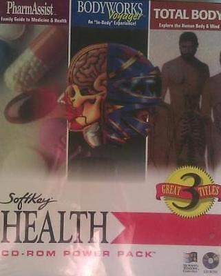 Softkey Health Power Pack PC CD BodyWorks PharmAssist & Total Body anatomy apps! (Total Pc Health)