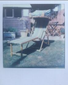 Retro vintage sun chair lounger.