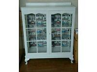 Shabby chic glass cabinet