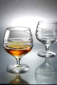 Forever Crystal Alto 24 % Cut Lead Crystal Brandy Glasses Set of 2 Brand New