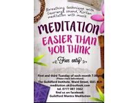 Free meditation class in Guildford