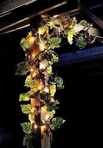 Grape String Lights | eBay on Patio Cover Decorating Ideas id=35105