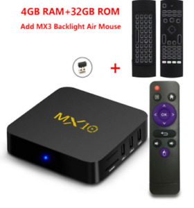 Streaming Media Player, MX10 Android 7.1 TV Box 4GB + 32GB