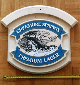 Wooden beer sign - Creemore Springs lager sign - bar sign