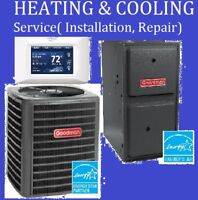 Heating, Cooling, Ventilation Service (Install & Repair)