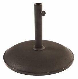 Brown Concrete Parasol Base 16kgs