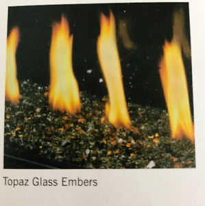 Fire place crushed glass