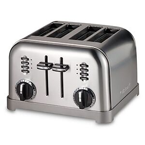 CUISINART CLASSIC 4-SLICE STAINLESS STEEL TOASTER $60