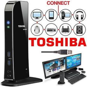 REFURB TOSHIBA DYANDOCK STATION - 108279401 - DOCKING U3.0 Universal USB 3.0 PC NOTEBOOK COMPUTER LAPTOP