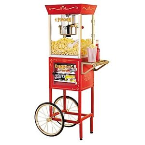 "Nostalgia Electrics Vintage Collection 59"" 8oz Popcorn Cart"