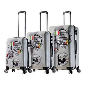 Mia Viaggi World Icon 3-Piece Hardshell Luggage Set (Brand New)