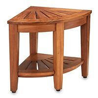Solid Teak Corner Stool Like Brand New