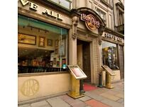 Line chef Supervisor Hard Rock Cafe Edinburgh