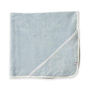 Burt's Bees Baby Organic Cotton Hooded Towel in Sky Blue