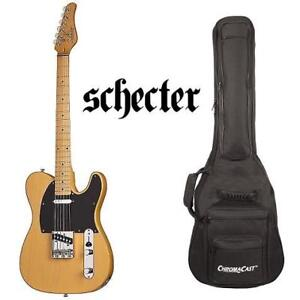 USED SCHECTER ELECTRIC GUITAR 159828359 WITH CHROMACAST CASE - PT STANDARD MAPLE