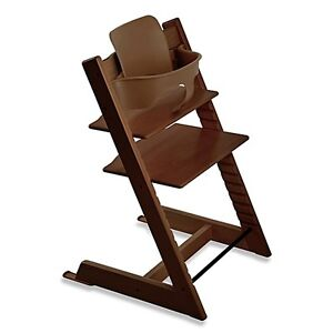 Stokke Tripp Trapp Classic Chair + Baby Seat in Walnut Brown