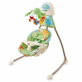 Fisher-Price Rain fores Open-Top Cradle Swing