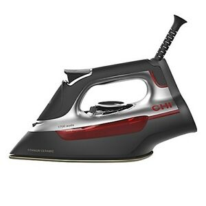 CHI® Manual Steam Iron in Black/Red NEW