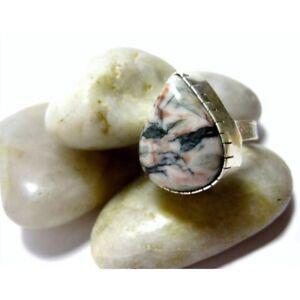 NEW Unisex Sterling Silver & Large Ocean Jasper Gemstone Ring RRP $70 North Melbourne Melbourne City Preview